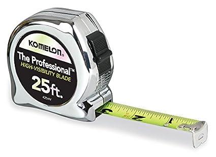 Komelon 425hv profesional de alta visibilidad cinta métrica, 25-Feet por 2,54