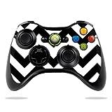 Protective Vinyl Skin Decal Cover for Microsoft Xbox 360 Controller wrap sticker skins Black Chevron