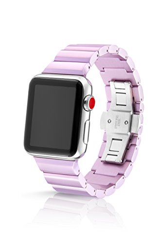 - JUUK 38/40mm Lavender Ligero Premium Watch Band Made for Apple Watch, Using Aircraft Grade, Hard Anodized 6000 Series Aluminum with a Solid Stainless Steel Butterfly deployant Buckle (semi-Polished)
