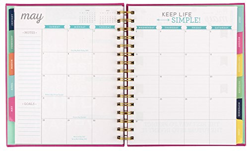 2017 eccolo spiral agenda datebook  weekly  u0026 monthly views