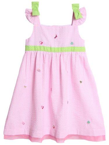 s' Toddler Embroidered Seersucker, Pink, 2T (Embroidered Seersucker)