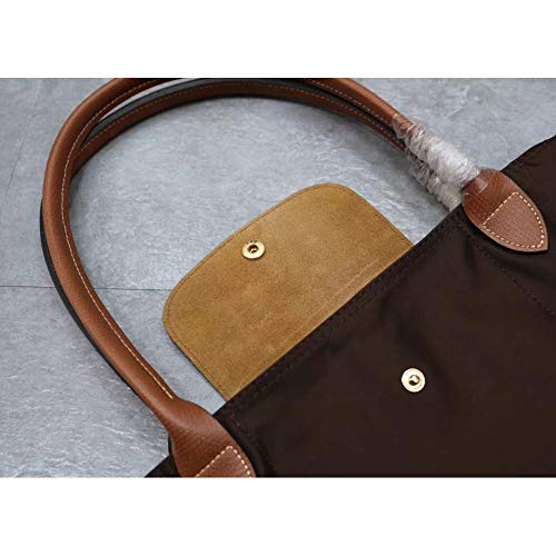 Canvas Leather Big Champ 653 Folding Shoulder Handbags Bag Delamode Women 203 Capacity Long Big wH6x8Y