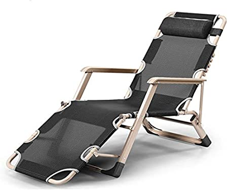 COSTWAY Rocking Lounge Chair with Headrest Pillow and Cup Holder Powder Coated Steel Folding Orbital Zero Gravity Moon Rocker Lounger for Indoor Outdoor 180 kg Capacity