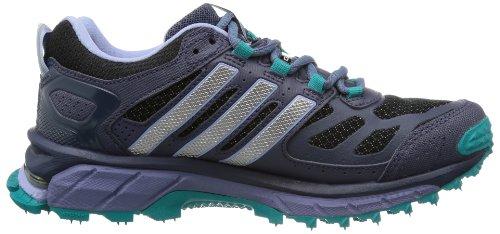 adidas Performance Response Trail 20 W GTX - Zapatillas de correr de material sintético mujer negro - Schwarz (BLACK 1 / TECH SILVER MET. F13 / BLAST EMERALD MEL.)