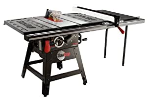 Sawstop CNS175-TGP36 1-3/4 HP Contractor Saw with 36-Inch Professional T-Glide Fence System including Rails and Extension Table