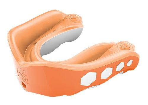 Shock Doctor GelMax Flavor Fusion Adult Strapless Mouth Guard, Orange