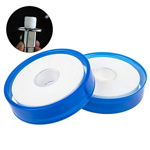 PTFE Thread Seal Tape, STARVAST Industrial Seal Teflon Gas Line Seal Tape For Fuel Lines, Leaky Water Pipe (328 Fts Length, 0.79 Inch Width, 2 Rolls (The Gas Connection)
