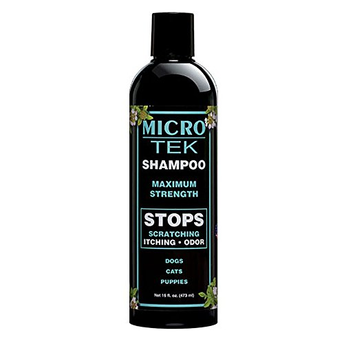 EQyss Micro-Tek Pet Shampoo (16 Ounce) - Stops Scratching, Itching, Biting, or Licking Hot Spots (Best Shampoo To Get Rid Of Fleas On Dogs)