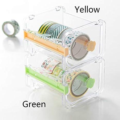 Juego de cintas de color puro para dispensador de cinta de escritorio, transparente, color amarillo Tape Dispenser: Amazon.es: Oficina y papelería