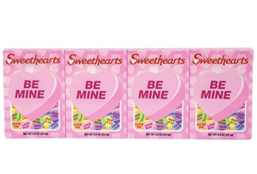 Sweethearts Candy Box (4~Boxes Sweethearts Conversation Hearts)