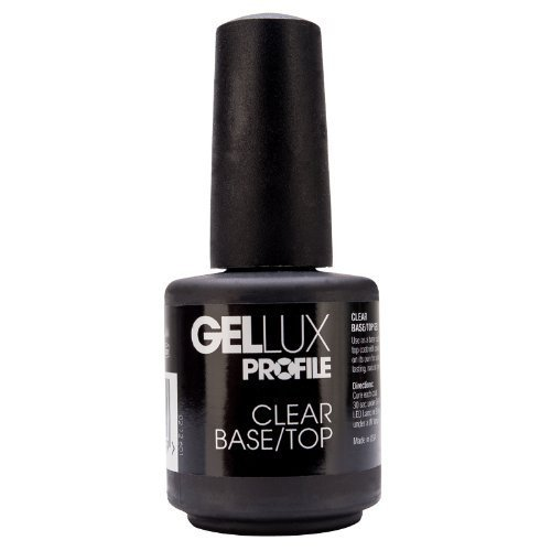 Gellux Uv Led Cure 2 In 1 Soak Off Top Coat & Base Coat Uv Gel 15ml Salon Systems