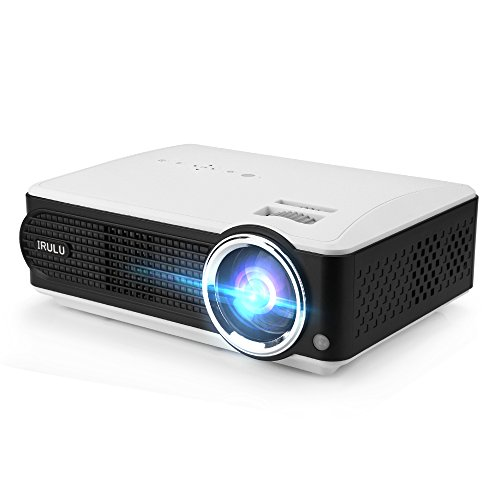iRULU P4 Projector HD LED Projector Support 1080P Video for TV Laptop Movie Game Home Cinema Theater by iRULU