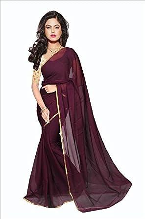 cff652e9cd wine301(Pink & Wine color Plain lace border conmbo saree) Sarees ...
