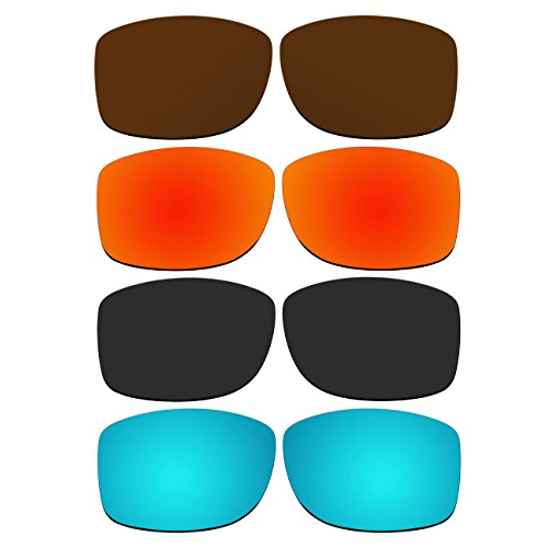 ACOMPATIBLE 4 Pair Replacement Polarized Lenses for Oakley Jupiter Squared Sunglasses Pack P2