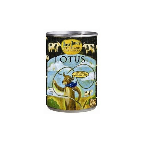 Lotus Just Juicy Grain-Free Beef Shank Stew Canned Dog Food 12.5 Ounces Case of 12
