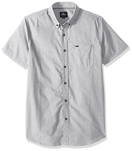 Rip Curl Mens Ourtime S S Shirt  Medium Grey Medium Grey  Xl