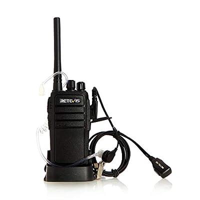 Retevis RT21 Two Way Radio Rechargeable 2 Way Radios UHF FRS 16CH VOX Scrambler Emergency Security Long Range Walkie Talkies with Secret Service Earpiece (10 Pack)