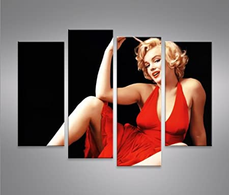 Image on Canvas Marilyn Monroe V12 4 XXL Canvas Wall Art Pictures ...