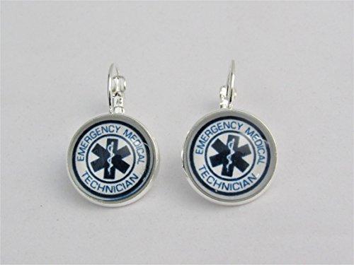 Emergency Medical Technician Lever Back Earrings ()