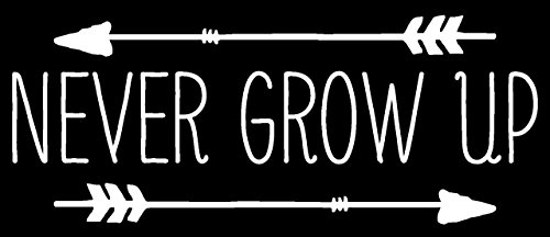 Never Grow Up Decal Vinyl Sticker|Cars Trucks Vans Walls Lap