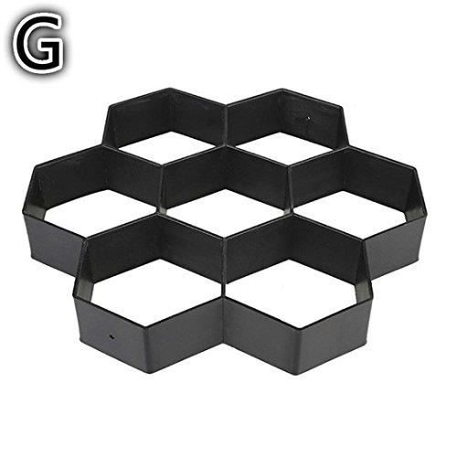 Stone Mold Walk Maker,SMYTShop DIY Personalized Manual Pathmate Stone Mould Paving Pavement Concrete Stepping Stone Paver Patio Walk Way (Hexagons Patterns) (Steps Patio Concrete)