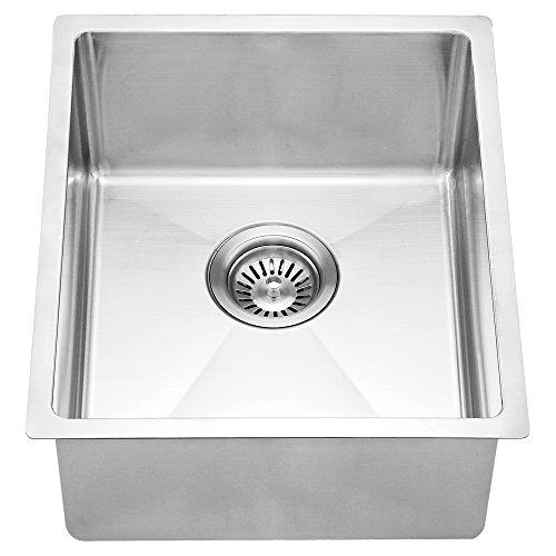 Dawn BS131507 Undermount Single Bowl Bar Sink, Polished Satin -