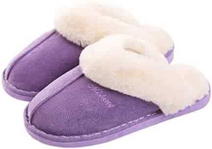 28574778a Women's Faux Fur Lined Suede House Slippers Non-Slip Indoor Outdoor  Moccasins. Contact · / (0) Views
