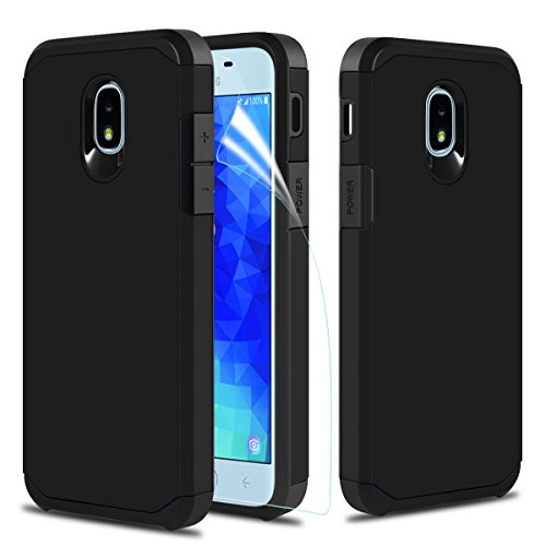 Samsung Galaxy J7 2019 Case, OEAGO [Shockproof] Hybrid Dual Layer Defender Protective Case Cover for Samsung Galaxy J7 2019 - Black