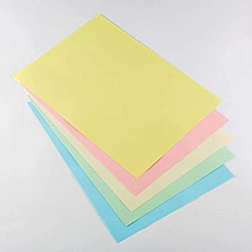 100 Sheets Of Pastel Colours A4 Thin Printer Copy Paper 80 gsm Office Art Craft