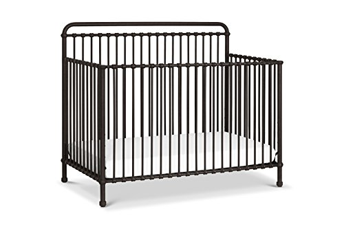 1 Iron Crib - Million Dollar Baby Classic Winston 4-in-1 Convertible Iron Crib,  Vintage Iron