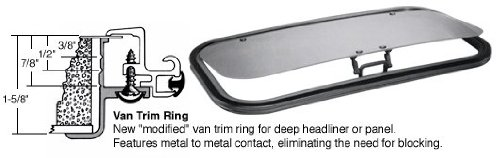 SFC/CRL 17 x 35 AutoPort Sunroof Van Trim Ring - Solar High Performance Glass by CR Laurence by C.R. Laurence