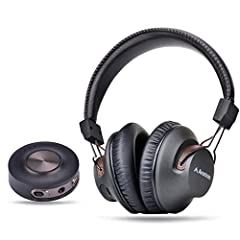 HT3189 is a wireless transmitter and headphone set. The included transmitter can be used with your TV, DVD, PC or any other audio source to stream high-quality audio to the included headphones with NO LIP SYNC DELAY. This set is PRE-PAIRED an...