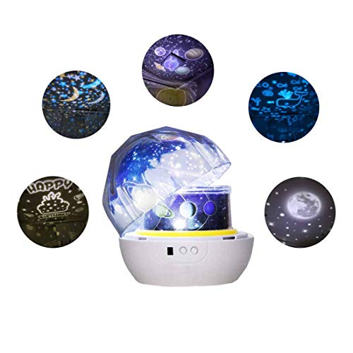 Star Projector Night Light for Boys Girls, Rotating Universe Star Night Light Projection Lamp 3-12 Year Old Girl Gifts Christmas Birthday Gifts for Kids Universe