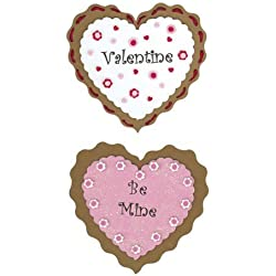 Valentine's Day Heart-Shaped Foam Cookies - Foamies Group Activity Craft Kit (Pack of 3)