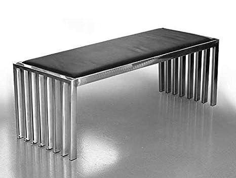 Acciaio inossidabile bank acciaio museum sella lunghezza 122 cm x