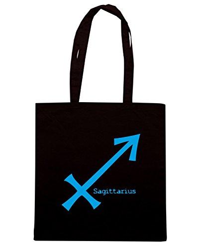 T-Shirtshock - Bolsa para la compra T0219 SAGITTARIUS religioni celtic Negro