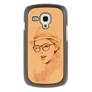 Gt Fashion Lady Drawing Pattern Protective Hard Back Cover Case for Samsung Galaxy S3 Mini I8190