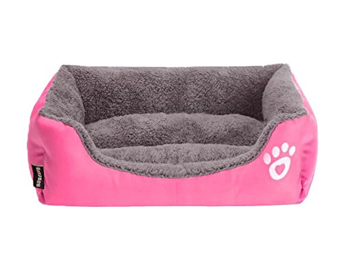 S-Lifeeling Lovely Spring Warm Dog Cave Bed Cat Bed Candy Color Square Pet Cat Bed Mattress Comfort Soft Pet (Not Upholstered Canvas)