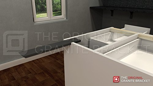 Countertop Support Bracket Side Wall 16'' Left Angle by Wholesale Hidden Granite Brackets (Image #5)