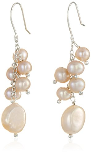 Pink Baroque fresh water Cultured Pearl Endless Necklace