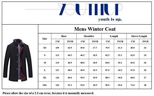 Manteau Homme Laine Hiver Chaud Parka Veste en Fourrure Trench Coat Slim Fit Casual Simple Caban