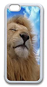 """ICORER Nice iphone 6 plus Case, Lion Sky Clouds Kicks Durable Case Cover for Apple iPhone 6 Plus with 5.5"""" Screen TPU White"""