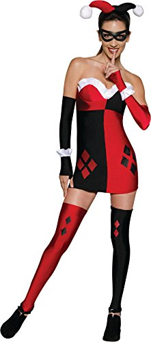 Secret Wishes Women's Dc Comics Super Villains Harley Quinn, Multicolor, Large