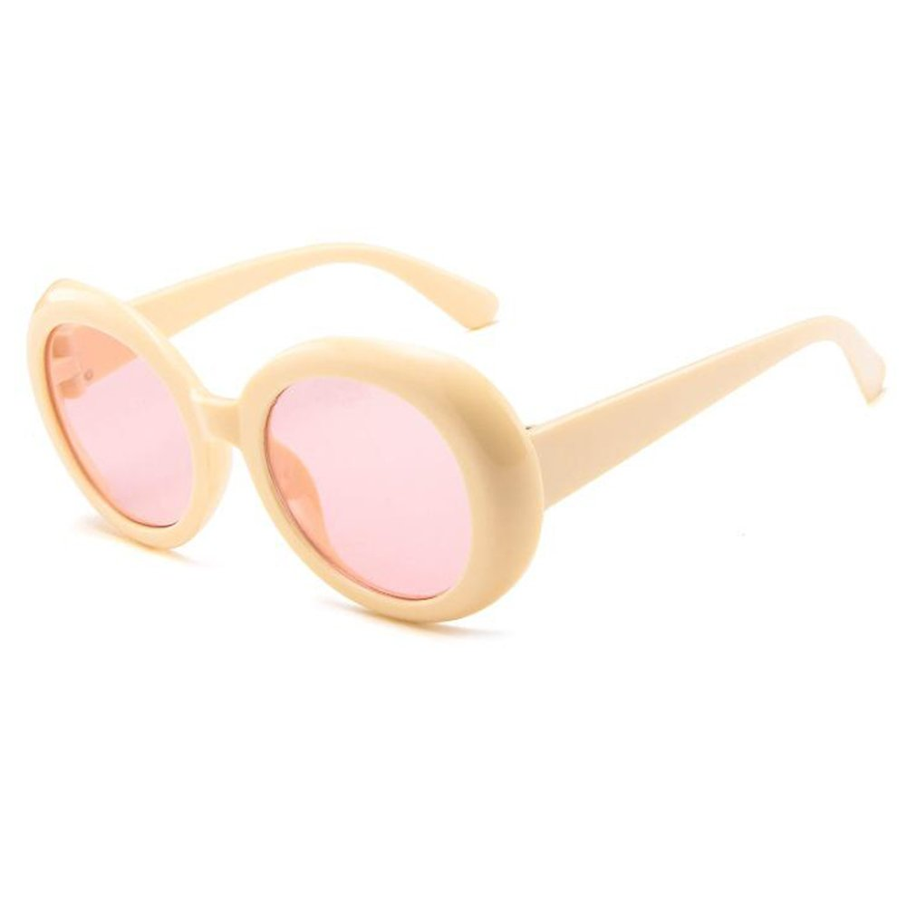 Inlefen Round Oval Sunglasses Mod Style Retro Thick Frame ...