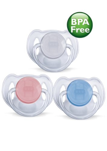 Philips AVENT sans BPA translucide Sucette, 6-18 mois, 2-Pack, les couleurs peuvent varier