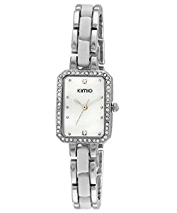 Kimio Women's White Dial Stainless Steel Band Watch - K452L-S0101