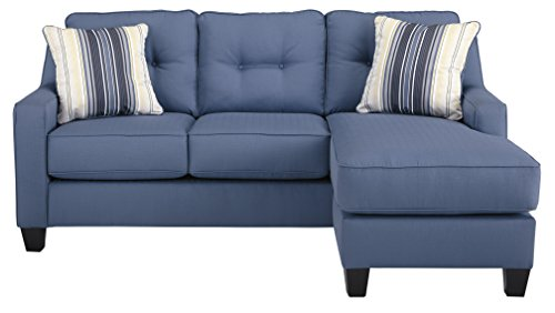 Super Benchcraft Aldie Nuvella Contemporary Sofa Chaise Sleeper Queen Size Mattress Included Blue Home Interior And Landscaping Ologienasavecom