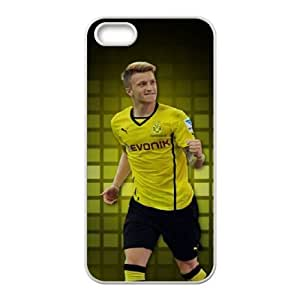 Special Design Cases iPhone 5, 5S Cell Phone Case White Dqizi Marco Reus Durable Rubber Cover
