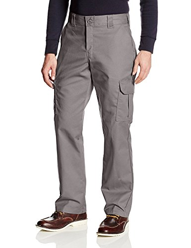 Dickies Men's Regular Straight Stretch Twill Cargo Pant, Gravel Gray, 42W x 34L