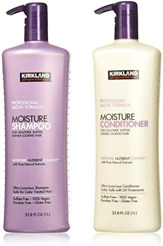 Kirkland Signature Salon Formula Moisture Shampoo & Conditioner, 33.8 Ounce